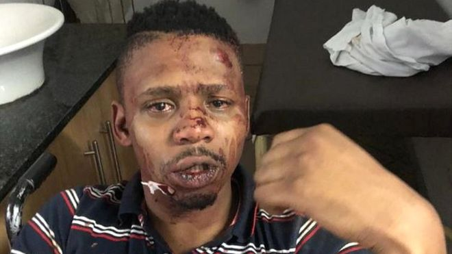 Samora Mangesi: South African presenter 'victim of racist attack' 3/14/2019