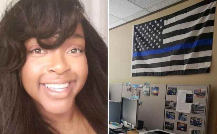 A BLACKWOMAN WHO COMPLAINED ABOUT A BLUE LIVES MATTER FLAG GOT PAID!!! AN AMAZING 100,000 SETTLEMENT 4/29/2019