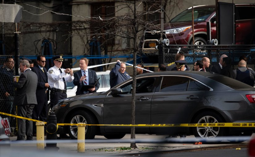 Police Officer Wounded in Wild Shootout in Upper Manhattan4/21/2019