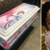 Meleah Davis And The Casket She Was Buried In After Her Body Was Found